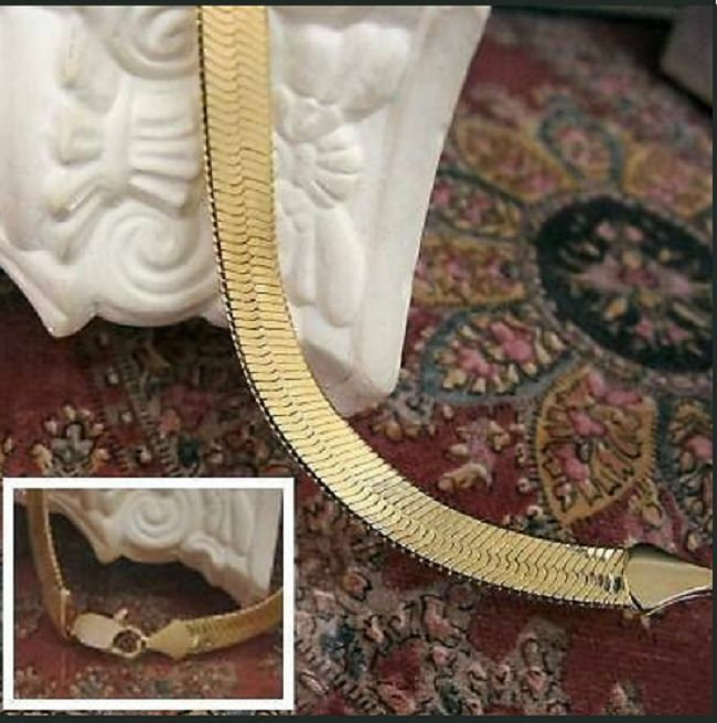 CHAIN OF SPIGOT gold 14 KT SUPER INFLECTED OF 24in