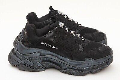 pas mal 65b35 6c441 Balenciaga Triple S Noir Triple Black Runners Sneakers Sz 41/ 8 | eBay