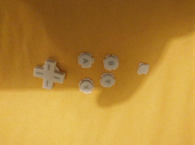 Original Official Authentic Nintendo 3DS XL Part White Button Set  DZ