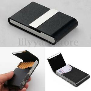 New hot pocket black pu leather name business card case holder new hot pocket black pu leather name business card case holder waterproof ebay reheart Images