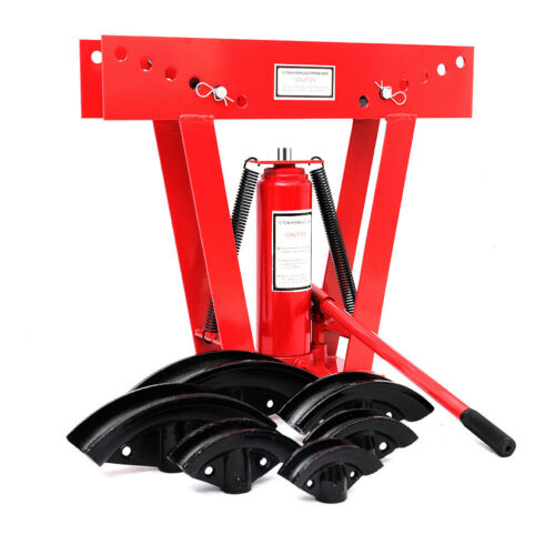 """12Ton Hydraulic Pipe Bending Machine Tube Bender Rod with Six Dies 1//2/"""" Up To 2/"""""""