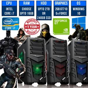ULTRA-Veloce-Gaming-PC-Quad-Core-i7-16-GB-SSD-computer-Windows-10-PC-Desktop-Intel