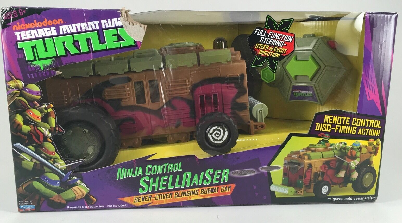 Teenage Mutant Ninja Turtles Shellraiser R C Vehicle TMNT Remote Control Car