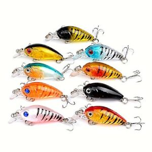 9-x-Trout-Fishing-Lures-Flathead-Bream-Perch-Lure-Redfin-Bass-lures-Tackle