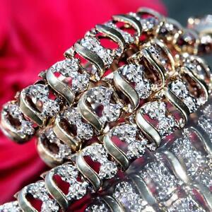 10k-yellow-gold-tennis-bracelet-1-25ct-natural-diamond-7-25-034-vintage-7-9gr