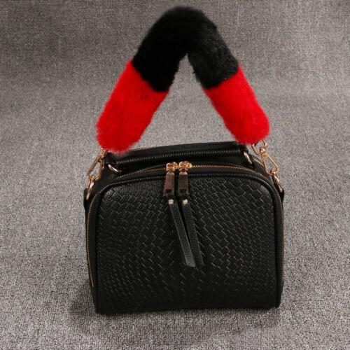 Women Handbag Replacement Strap Faux Fur Handle For Purse Belt DIY Bag Accessory