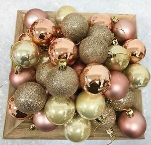 image is loading 80 x rose gold champagne copper pearlised christmas