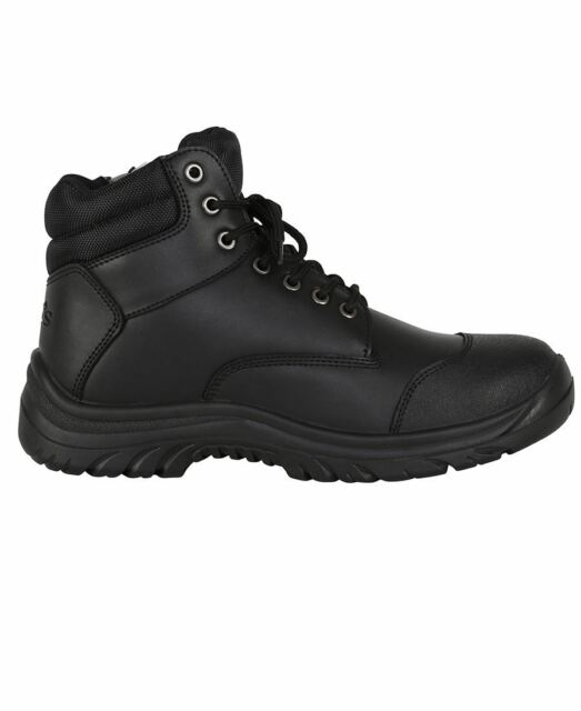 f33cc22feda Jbs Steel Toe Safety Work Boots Steel Toe Cap Sided Zip Lace Up Black Wheat  9F9