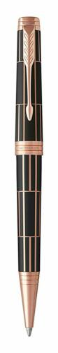 Parker Premier Ballpoint Pen Medium Point Black Ink Refill Luxury Gold Trim