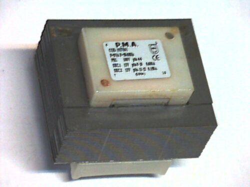 1527061 TRANSFORMER TRASFORMATORE Printtrafo prim sec 100v 2x12v 8va P.M.A