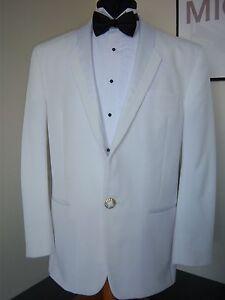 White Christian Dior Toulon Tuxedo Jacket -90's style 40R with black pant option