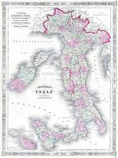 1861 JOHNSON MAP CHINA VINTAGE REPRO POSTER ART PRINT 2931PYLV