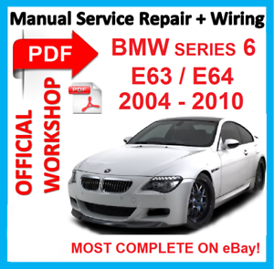 official workshop manual service repair for bmw series 6 e63 e64 rh ebay co uk BMW 3 Series Motorcycle Workshop Manuals