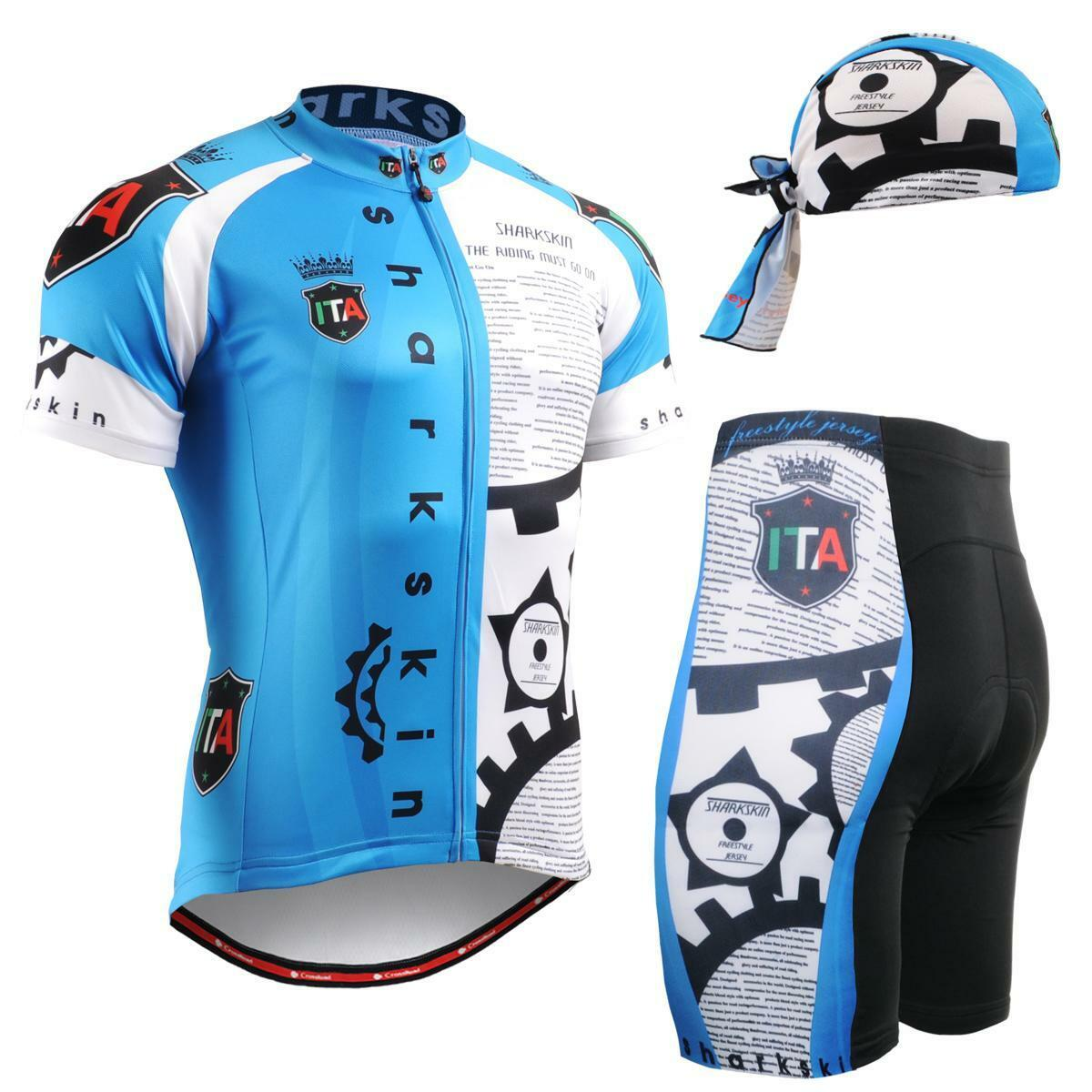 FIXGEAR CS -g502 SET Cykling Jersey och Shorts MTB Cykel, Bicycle Wear, Beanie GIFT