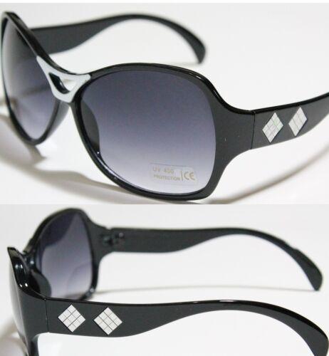 Women/'s Black w// Grad NO.8015 SMK Oversized Sunglasses