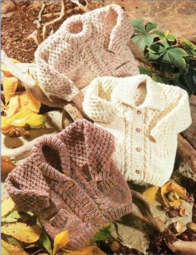 Super Chunky Knitting Pattern Baby//Child/'s Vestes et pull poitrine 56-86 228