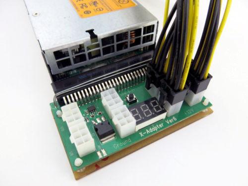 750w Watt Power Supply Kit for GPU Mining High Efficiency 94/% ETH Ethereum