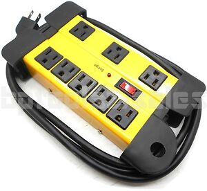 8 Outlet Strip Surge Protector W Metal Housing Charging Station Electronic 794685141294 Ebay