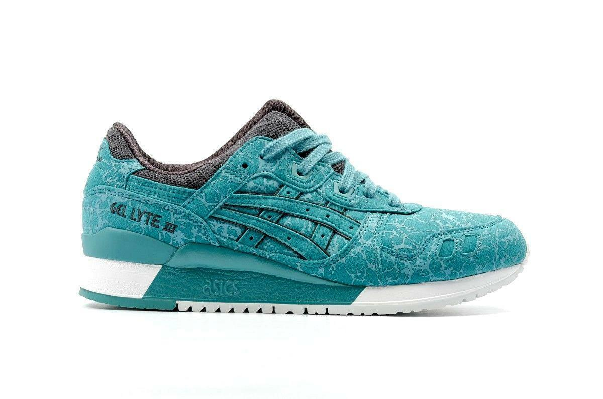 Mens ASICS GEL-LYTE III King Fisher Suede Trainers H6U2Y 4848