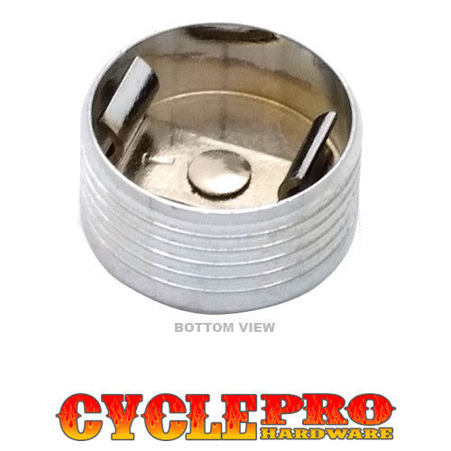 Chrome Flame Metal Bolt Topper Cover Kit for Harley Seat Mounting to Rear Fender