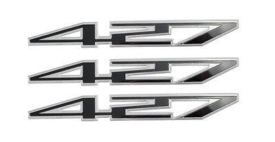 "427 ci Fender Trunk Black /& Silver Aluminum 5 3//4/"" Emblems Set of 3"