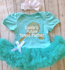 Daddys Avenir Tennis Partner Baby Girl Tutu Ange Robe Wimbledon Cadeau Princesse-afficher Le Titre D'origine