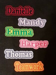 Personalised-Embroidered-Name-Patch-Badge-B1-Iron-on-sew-on