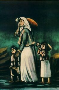 oil-painting-034-A-Peasant-Woman-with-Children-Going-to-Fetch-Water-034-N5485