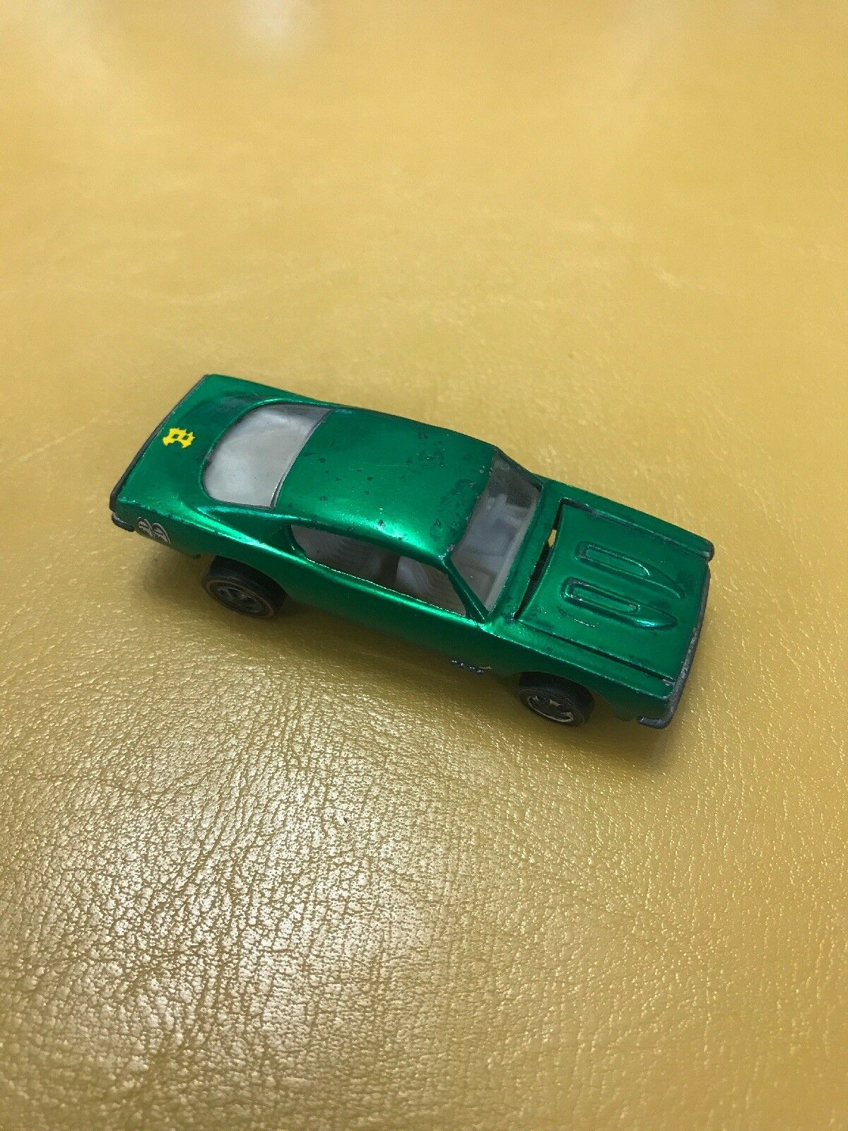 Hot Wheels rossoline 1968 Custom Barracuda verde Excellent Condition US bianca Int.