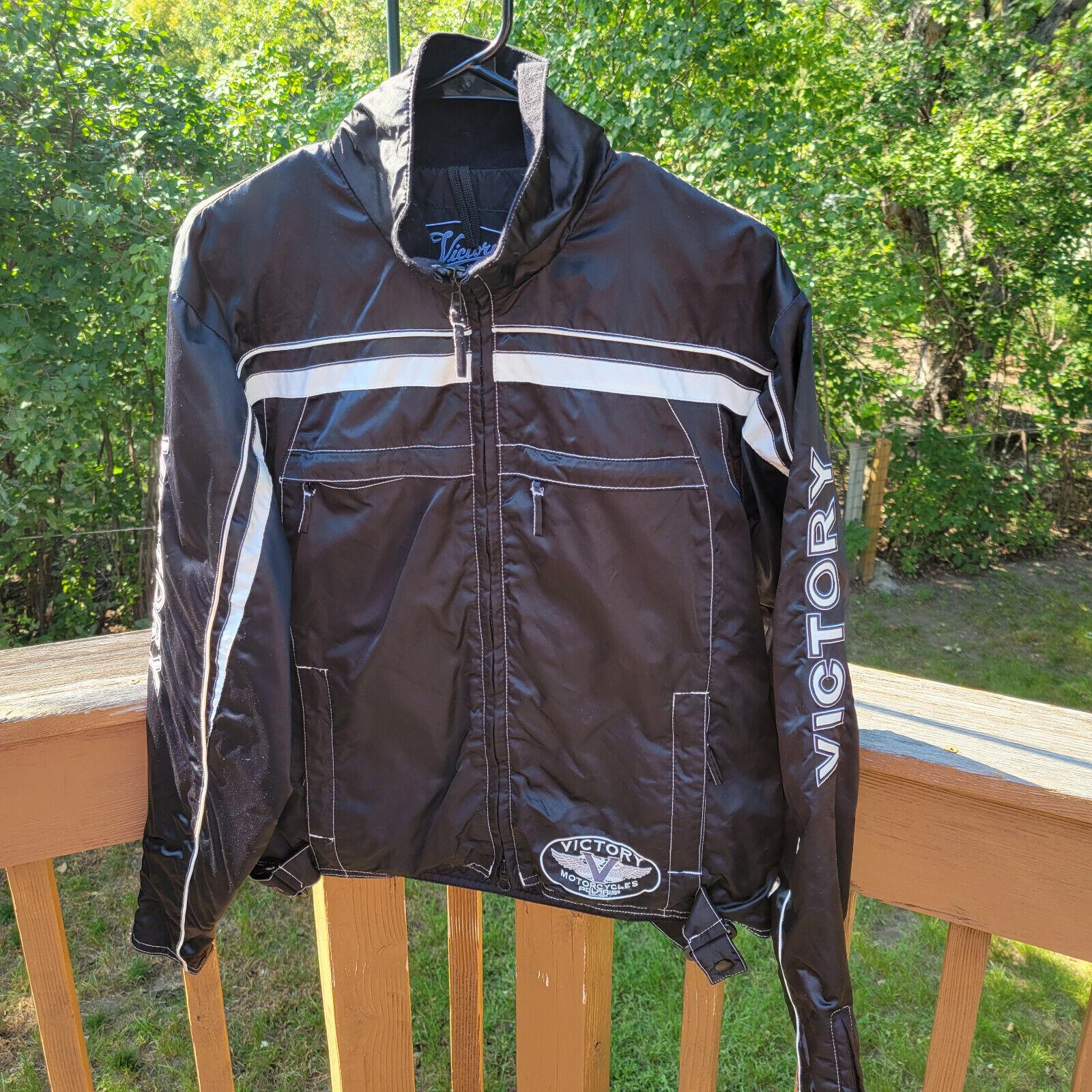 Victory Motorcycles Women's Lightweight Wind Jacket Sz. Large Black