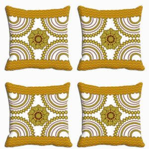 4 PC Combo Home Decor Sofa Car Cushion Covers Throw Pillow Case Digital Print