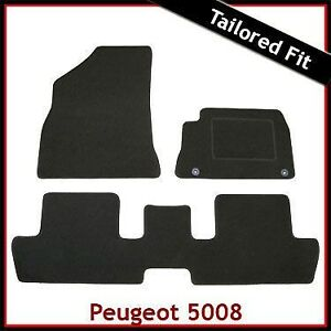 Peugeot-5008-Mk1-2009-2016-Tailored-Carpet-Car-Floor-Mats-BLACK