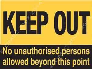Keep Out Metal Sign Warning Kid Bedroom Door Hazard