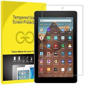 Premium Tempered Glass Screen Protector Amazon Kindle Fire HD8 HD7 ,HD10 2018