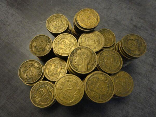 8. Lot 1802 Grammes - Environ 226 Monnaies - 2 Francs Morlon Années 1931 à 1941