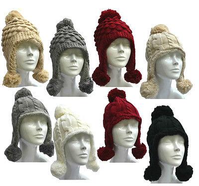 Mütze Beanie soft weich Strickmütze Wintermütze Damen Mützen Wollmütze