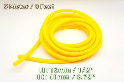 3 METRE YELLOW SILICONE VACUUM HOSE AIR ENGINE BAY DRESS UP 12MM FIT NISSAN