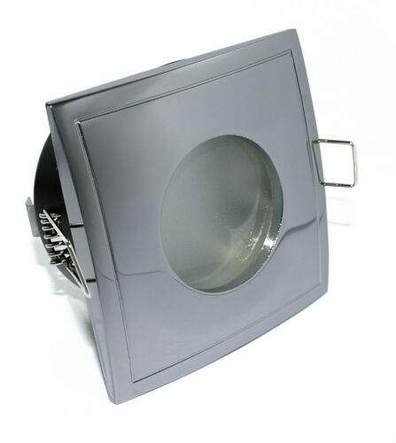 Dimmbare 5W LED Feuchtraum IP65 Einbauleuchten Deckenspots AQUA SQUARE 230V