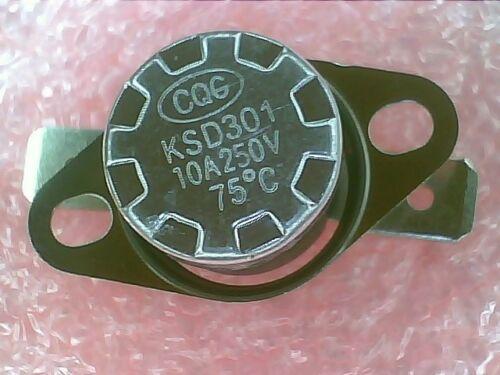 N.O Thermostat:KSD301-K075 75ºC 167ºF NO:Temperature:BiMetal Switch