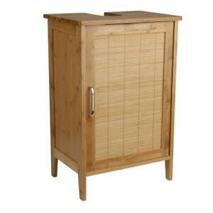 Bambus-Waschtischunterschrank-Badmoebel-Bambusschrank-Waschbecken-Unterschrank
