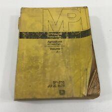 Genuine John Deere 1979 Master Parts Index Agricultural Dealer Service Sp 235
