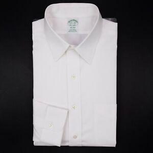 Brooks-Brothers-White-Dress-Shirt-15-5-34-Milano-Non-Iron-American-Supima-Cotton
