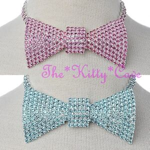 8bced598be739 Details about Stunning Sexy Bowtie Bow Tie Catwalk Statement Hollywood  Crystal Choker Necklace