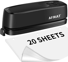 3 Hole Punch Afmat Electric Three Hole Punch Heavy Duty 20 Sheet Punch Capacit