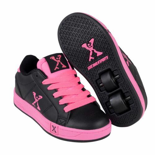 Sidewalk Sport Kids Lane Girls Wheeled Skate Lace Up Padded Collar Shoes