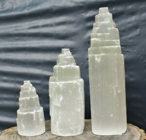 Selenite Mountain/Tower Crystal 5,10,15cm Meditation Chakra Spirituality Healing