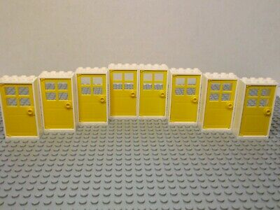 ☀️NEW LEGO 12x White Door Frame 2x4x6 w// Black Door Parts Pieces House City Town