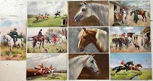 Raphael-Tuck-amp-Sons-Oilette-series-Lot-of-10-vintage-antique-postcards-unposted