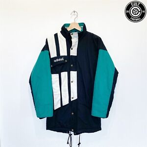 1993/95 LIVERPOOL Style Vintage adidas Football Bench Coat Jacket (S) 34/36