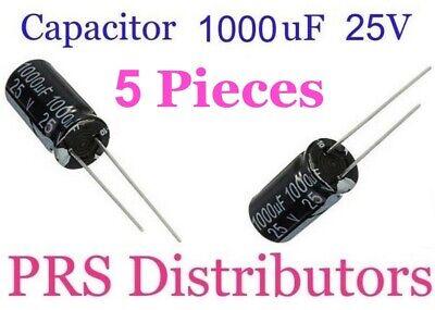 -20/% 105 DEGREE CELIUS 5x ELECTROLYTIC CAPACITOR 1000UF 25V